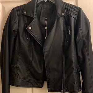 Max Studio Faux Leather Moto Jacket NWT